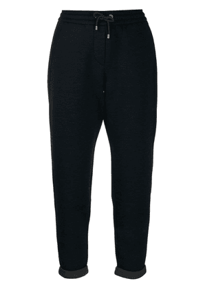 Brunello Cucinelli tapered track pants - Blue