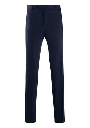Canali slim tailored trousers - Blue