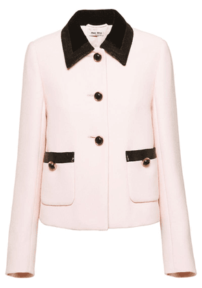 Miu Miu Cady sequin trim jacket - Pink