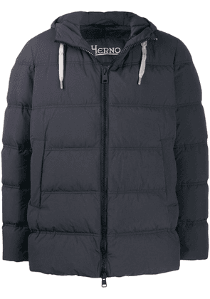 Herno zip-front puffer jacket - Blue