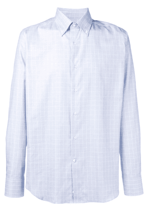 Canali button down check shirt - Blue