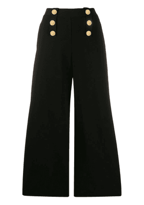 Stella McCartney decorative buttons flared trousers - Black