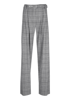 Proenza Schouler Plaid Exaggerated Pant-Plaid Suiting - Black