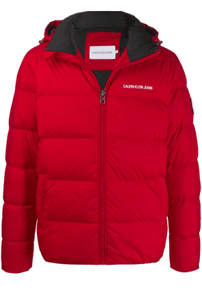 Calvin Klein Jeans zipped padded jacket - Red