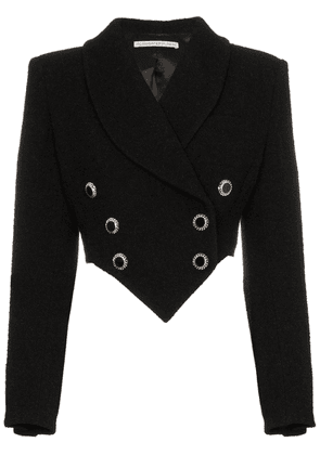 Alessandra Rich cropped double breasted blazer - Black