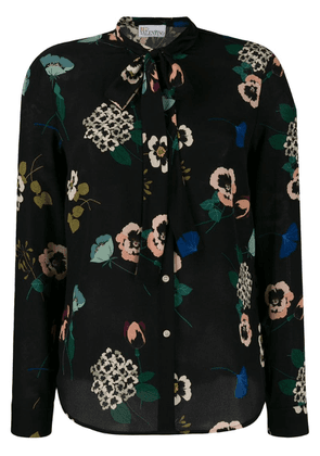 Red Valentino floral printed blouse - Black