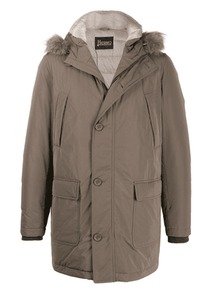 Herno hooded padded jacket - Neutrals