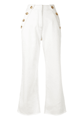 Derek Lam 10 Crosby cropped trousers - White