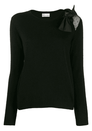 Red Valentino bow front jumper - Black