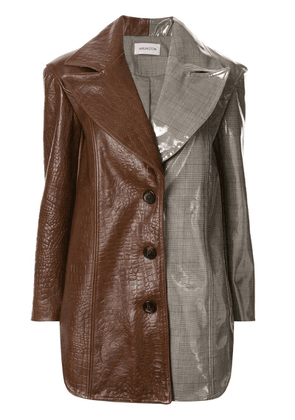 16Arlington contrast fitted blazer - Brown