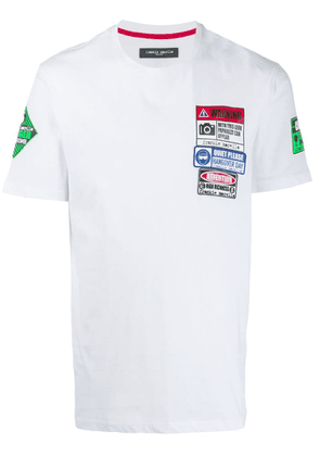 Frankie Morello patch detail T-shirt - White