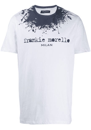 Frankie Morello paint splatter logo T-shirt - White
