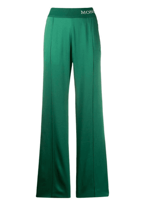 Moncler logo waistband track trousers - Green