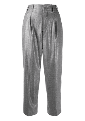 Pt01 metallic cropped trouser - Grey
