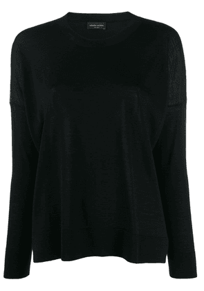 Roberto Collina wool knitted top - Black