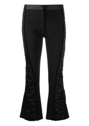 Mugler contrast panel trousers - Black