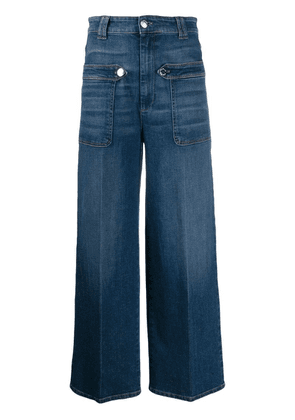 Pinko flared cropped jeans - Blue