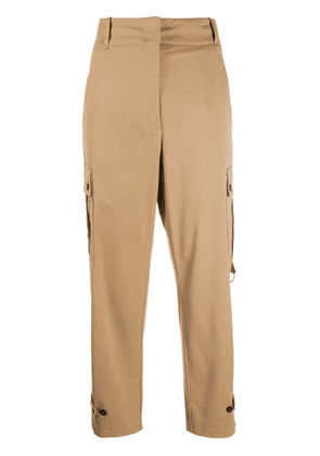 Pinko cropped cargo trousers - Neutrals