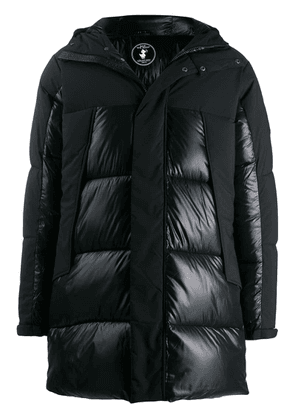 Save The Duck contrast panels padded coat - Black