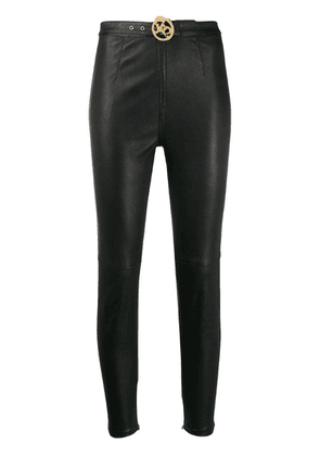 Just Cavalli belted skinny trousers - Black