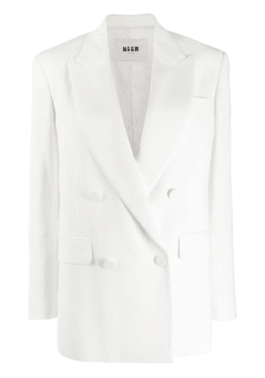 MSGM double breasted blazer - White