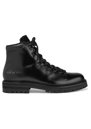 Common Projects - Glossed-leather Ankle Boots - Black