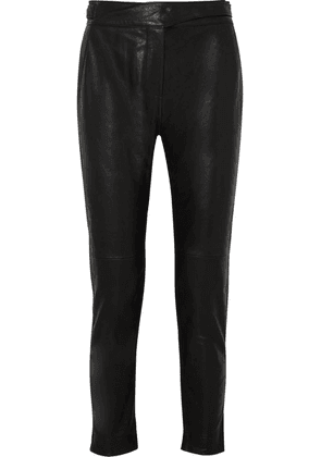 rag & bone - Mila Leather Track Pants - Black