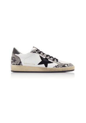 Golden Goose Ball Star Snake-Effect Leather Sneakers