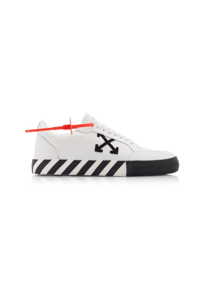 Off-White c/o Virgil Abloh Embellished Suede And Canvas Sneakers