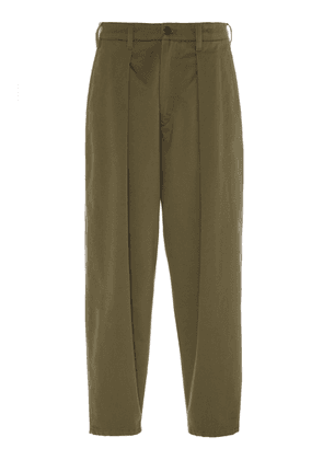 Monitaly Pleated Cotton-Twill Riding Pants