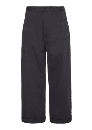 Haider Ackermann Workwear Cotton-Twill Straight-Leg Pants