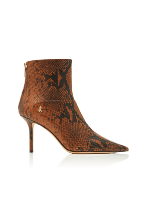 Jimmy Choo Beyla Snake-Effect Leather Ankle Boots