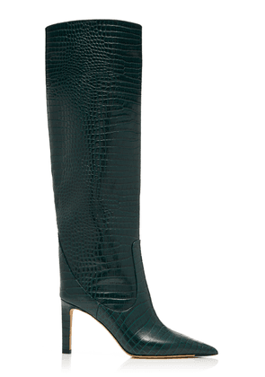 Jimmy Choo Mavis Croc-Effect Leather Knee Boots