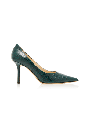 Jimmy Choo Love Croc-Effect Leather Pumps