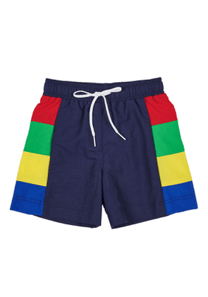 Colorblock Supplex Swim Trunks, Size 2-4T