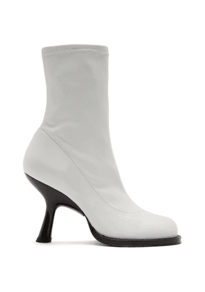 Simon Miller White Stretch Boots Tee Heel Boots
