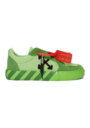 Off-White SSENSE Exclusive Green Low Vulcanized Sneakers