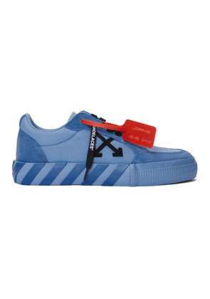 Off-White SSENSE Exclusive Blue Low Vulcanized Sneaker