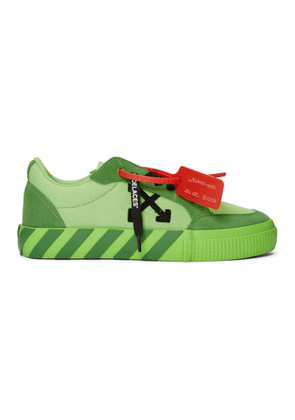 Off-White SSENSE Exclusive Green Low Vulcanized Sneaker