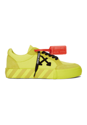 Off-White SSENSE Exclusive Yellow Low Vulcanized Sneaker