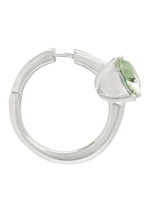 Ambush Silver and Green Solitaire Single Earring