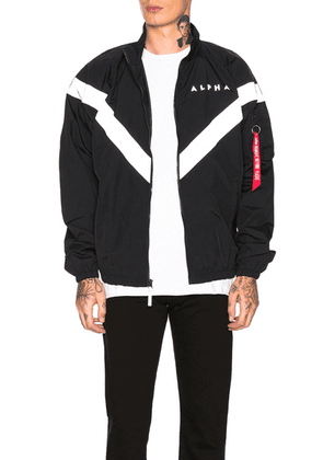 ALPHA INDUSTRIES PT Track Jacket in Black - Black. Size M (also in ).