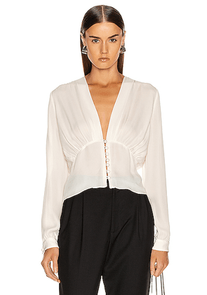 NILI LOTAN Laila Top in Ivory - White. Size 4 (also in 0,2,8).