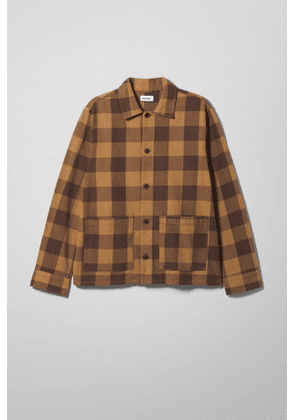 Genny Checked Overshirt - Beige