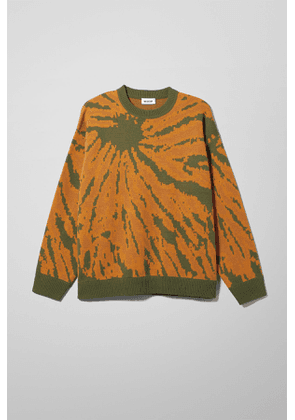 Diego Tie Dye Jacquard Sweater - Yellow