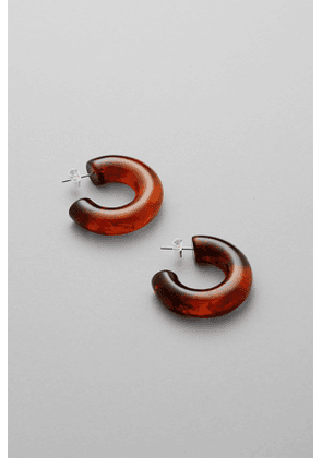 Mahir Plastic Earrings - Brown