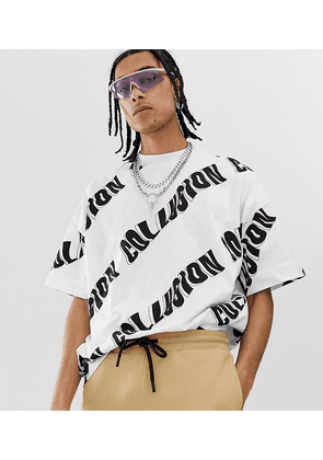 COLLUSION oversized printed t-shirt