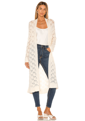 Tularosa Felicity Duster in Ivory. Size L,M,S,XL,XS.