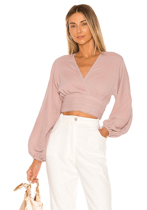 Tularosa Solange Blouse in Pink. Size L,M,S,XL,XS.