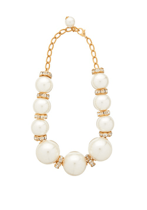 Dolce & Gabbana - Faux Pearl Embellished Necklace - Womens - Pearl